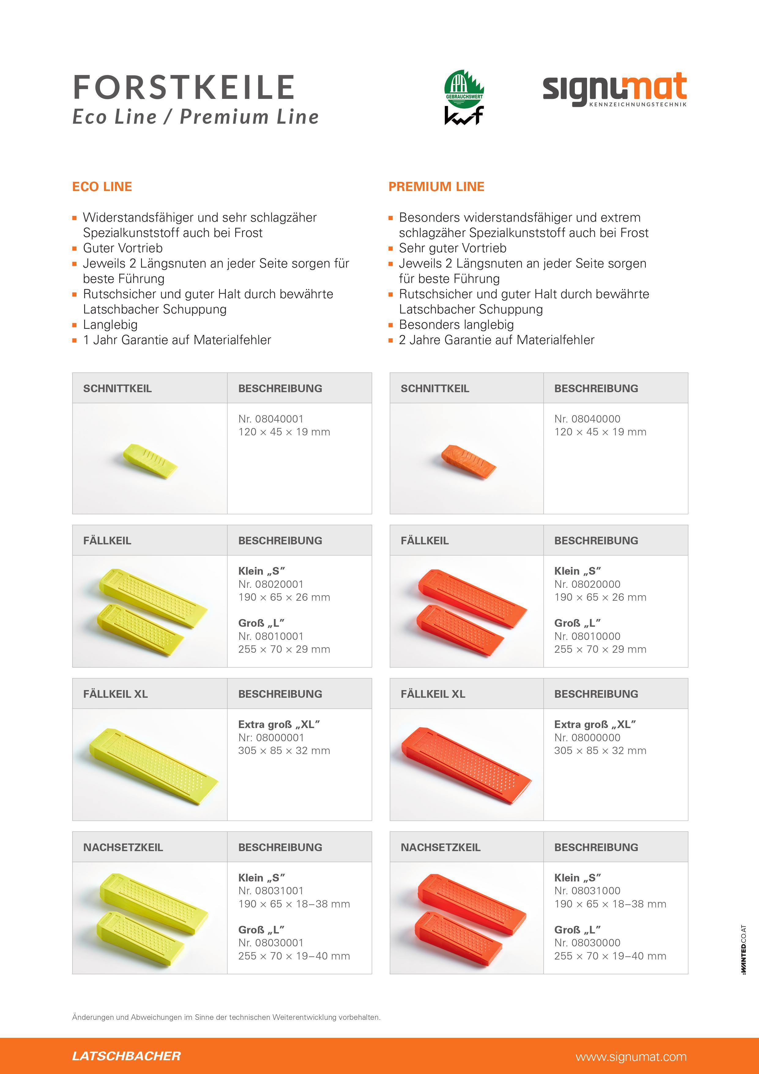 Schnittkeil  Premium Line, 120x45x19mm